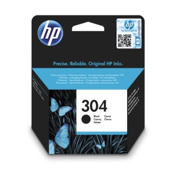 HP 304 Black Original Ink Cartridge, N9K06AE