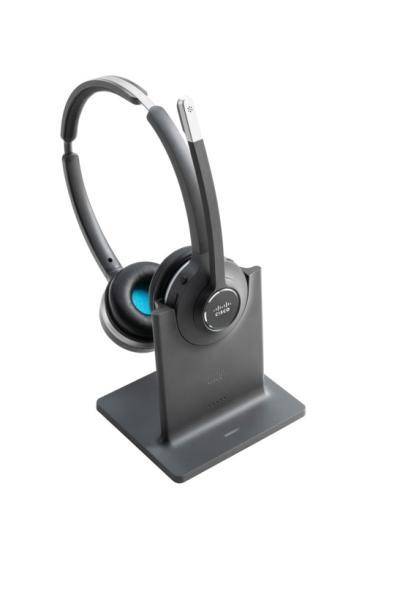 Cisco Headset 562 Wireless Dual Headset with Standard Base Station. Frequency Band: Europe, U.K.