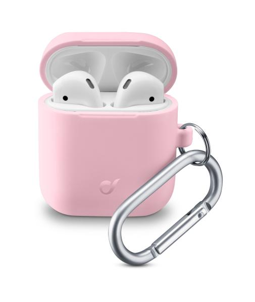 Kryt Cellularline Bounce AirPods 1 & 2, růžový