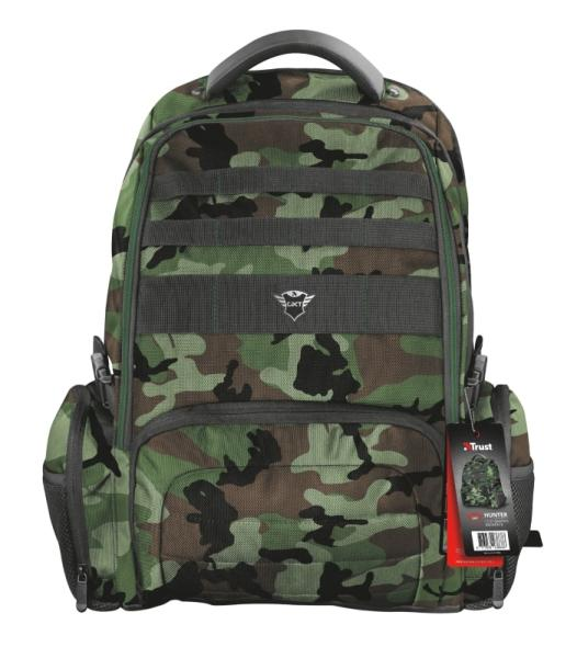 "TRUST GXT 1250G Hunter Gaming Backpack pro 17.3"" laptopy, zelená kamufláž"