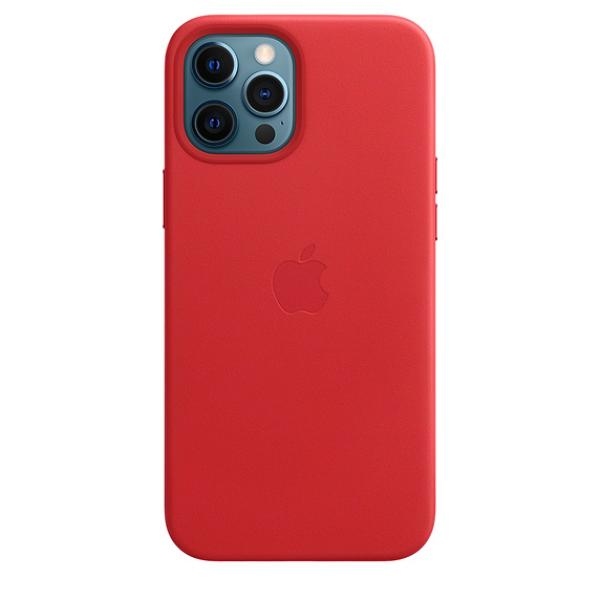 iPhone 12 Pro Max Leather Case wth MagSafe (P.)RED