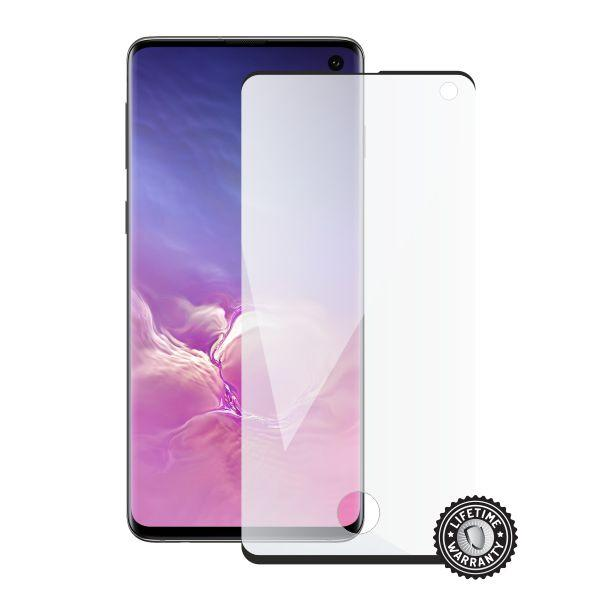 Screenshield SAMSUNG G973 Galaxy S10 Tempered Glass protection (black - CASE FRIENDLY)