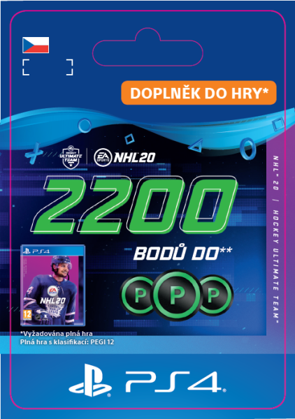 ESD CZ PS4 - NHL 20 - 2200 Points Pack