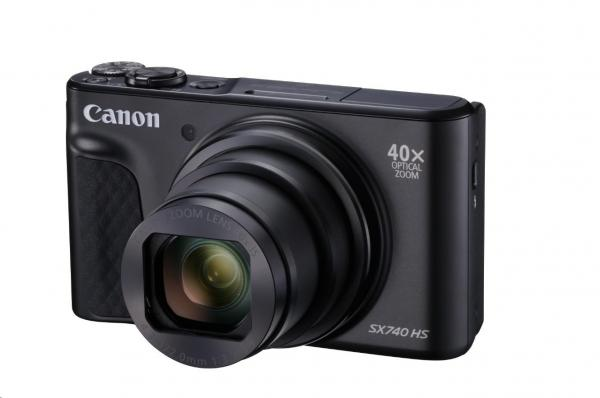 Canon PowerShot SX740 HS,  20.3Mpix,  40x zoom,  WiFi,  4K video - černý - Travel Kit