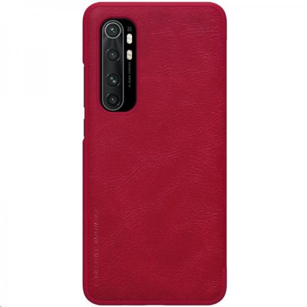 Nillkin Qin Leather Case pro Xiaomi Mi Note 10 Lite Red