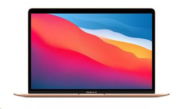 "APPLE MacBook Air 13"""", M1 chip with 8-core CPU and 7-core GPU,  256GB, 8GB RAM - Gold"